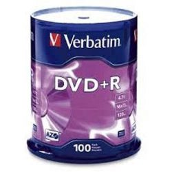 DVD+R Verbatim 4,7GB, 16x 100 db/henger