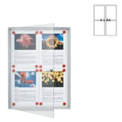 Információs vitrin 4xA/4 51x68cm FSA/4 Franken