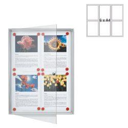 Információs vitrin 6xA/4 73x68cm FSA6 Franken