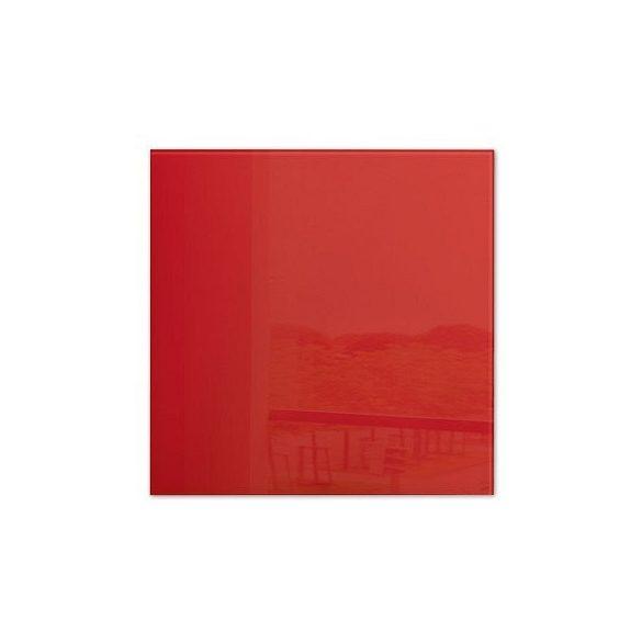 Üvegtábla mágneses 480x480x15 mm piros