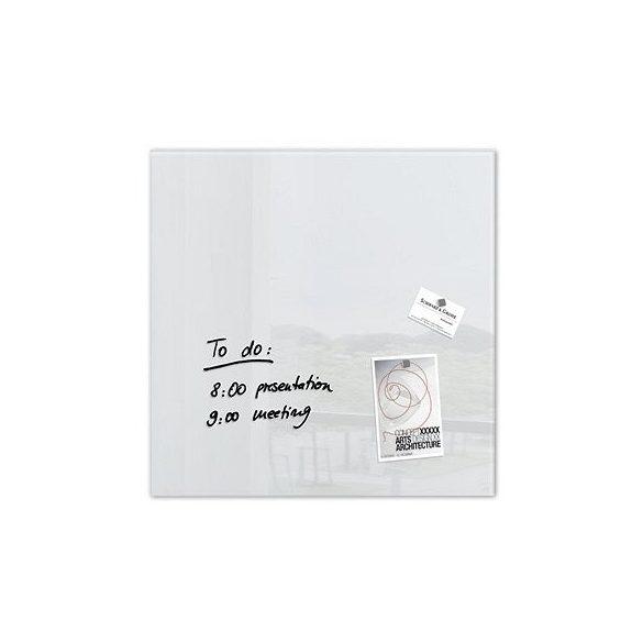 Üvegtábla mágneses 480x480x15 mm fehér