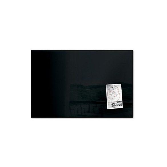 Üvegtábla mágneses 600x400x15 mm fekete
