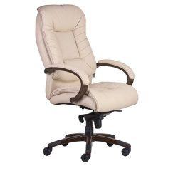 Főnöki szék, műbörborítás, fekete lábkereszt,  Buffalo - Bézs