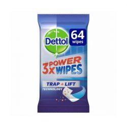 Dettol 3X Power Bathroom Wipes fürdőszobai nedves törlőkendő 64 db