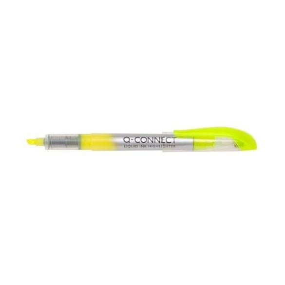 Szövegkiemelő tollforma Q-Connect / Penac citromsárga