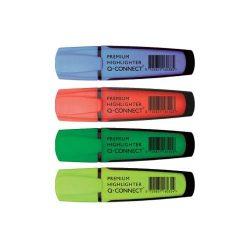 Szövegkiemelő klt. 4db-os Q-Connect Prémium KF16041