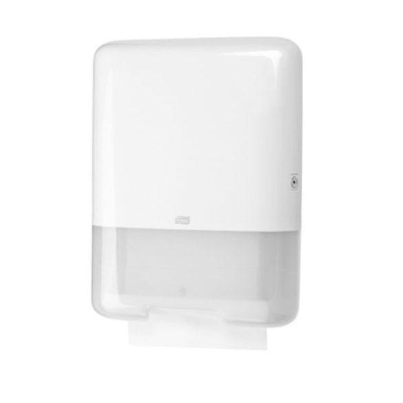 TORK Sienglefold műanyag Z és C hajtogatású kéztörlő adagoló, fehér (H3 rendszer) nagy