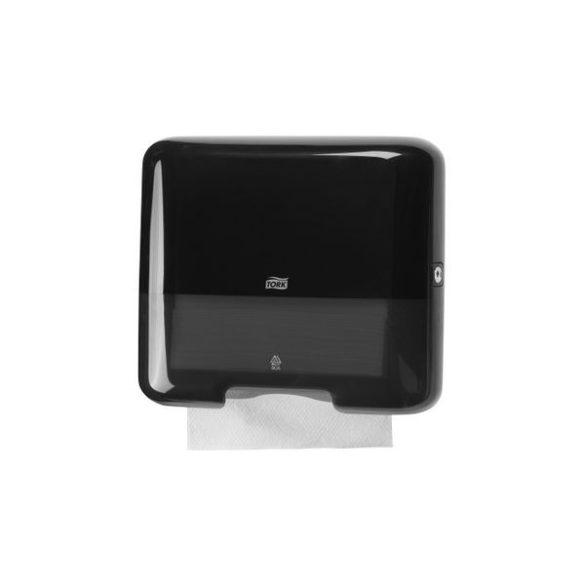 TORK műanyag mini Z és C hajtogatású kéztörlő adagoló, fekete (H3 rendszer)