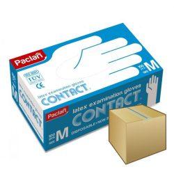 PACLAN latex gumikesztyű 100db-os M
