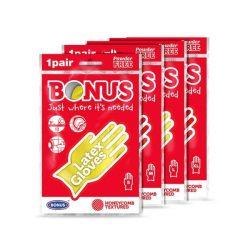 Bonus gumikesztyű 1pár M