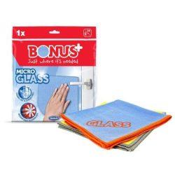 Bonus+ MicroGLASS mikroszálas ablaktörlőkendő (35×35 cm)