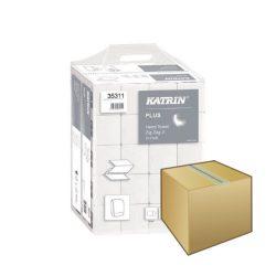 Kéztörlő KATRIN PLUS Z hajtogatott 200lap 2rétegű hófehér 100% cellulóz 20DB-os KARTON ÁR