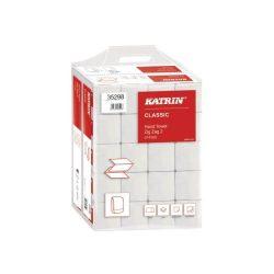 Kéztörlő Katrin Classic Z hajtogatott 200lap 2rétegű recycled fehér