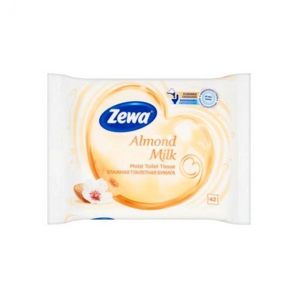 Zewa nedves toalettpapír 42db Alomnd milk
