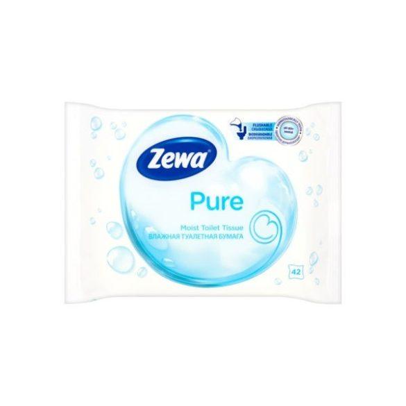 Zewa nedves toalettpapír 42db Pure