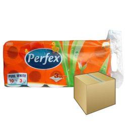 Perfex WC papír 3rétegű 10 tekercs 90 lap 12DB-OS KARTON ÁR